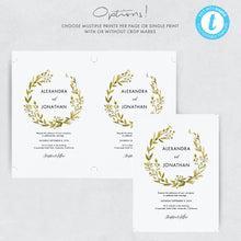 Load image into Gallery viewer, Greenery Wedding Invitation Template Woodland - Pearly Paper