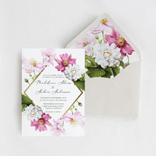 Load image into Gallery viewer, Floral Envelope Liner Anemone - Pearly Paper