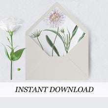 Load image into Gallery viewer, White Floral Envelope Liner - Pearly Paper