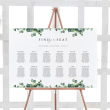 Load image into Gallery viewer, Wedding Seating Chart Sign Eucalyptus - Pearly Paper