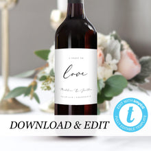 Load image into Gallery viewer, Wedding Wine Bottle Labels - Pearly Paper