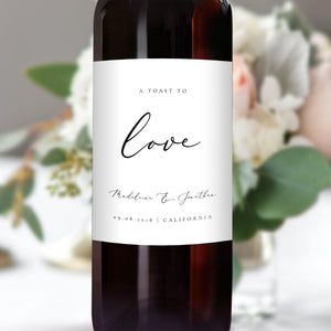 Wedding Wine Bottle Labels - Pearly Paper