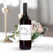Load image into Gallery viewer, Wedding Label Wine Bottle Label - Pearly Paper