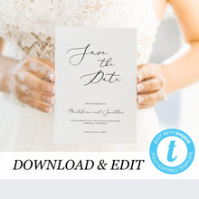 Load image into Gallery viewer, Save the Date Printable Invitation - Pearly Paper