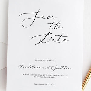Save the Date Printable Invitation - Pearly Paper
