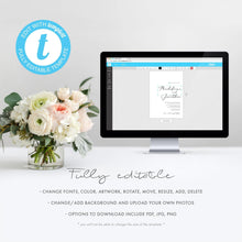 Load image into Gallery viewer, Eucalyptus Wedding Favors Sign Template - Pearly Paper