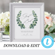 Load image into Gallery viewer, Eucalyptus Wedding Guest book Sign - Pearly Paper