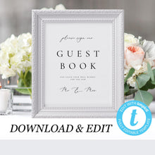 Load image into Gallery viewer, Wedding Guest book Sign Template - Pearly Paper