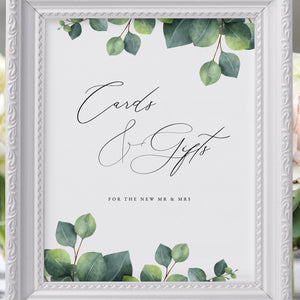Editable Cards and Gifts Sign - Pearly Paper