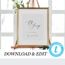 Load image into Gallery viewer, Oh Snap Wedding Sign Template - Pearly Paper