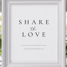 Load image into Gallery viewer, Share the Love Wedding Sign - Pearly Paper