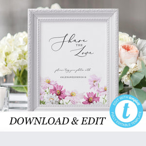 Floral Share the Love Wedding - Pearly Paper