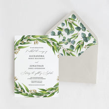 Load image into Gallery viewer, Eucalyptus Greenery Envelope Liner - Pearly Paper