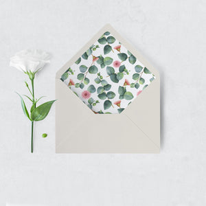 Greenery Envelope Liner Floral Eucalyptus - Pearly Paper