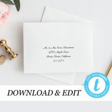 Load image into Gallery viewer, Calligraphy Envelope Address Tenplate - Pearly Paper