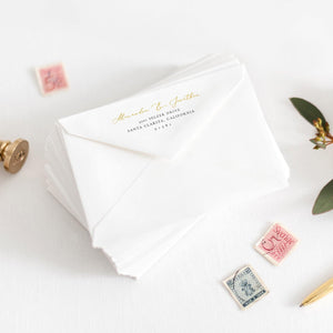 Floral Envelope Address Template - Pearly Paper