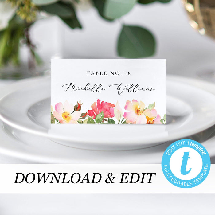 Place Cards Blush Floral - Pearly Paper