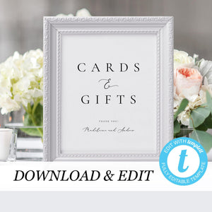 Wedding Cards and Gifts Sign - Pearly Paper