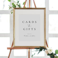 Load image into Gallery viewer, Wedding Cards and Gifts Sign - Pearly Paper