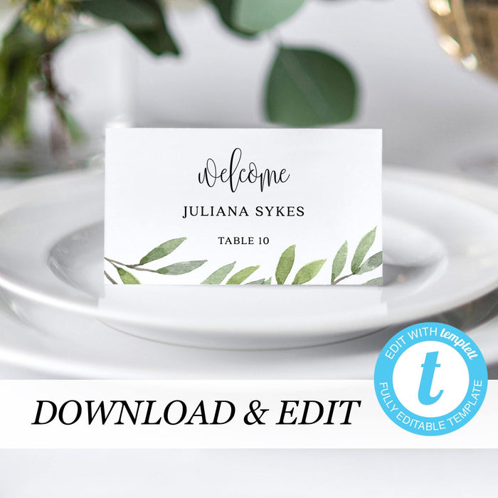 Place Cards Greenery - Pearly Paper