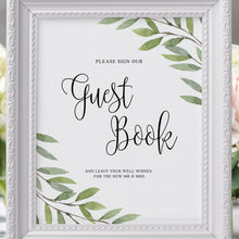 Load image into Gallery viewer, Greenery Wedding Guest book Sign - Pearly Paper