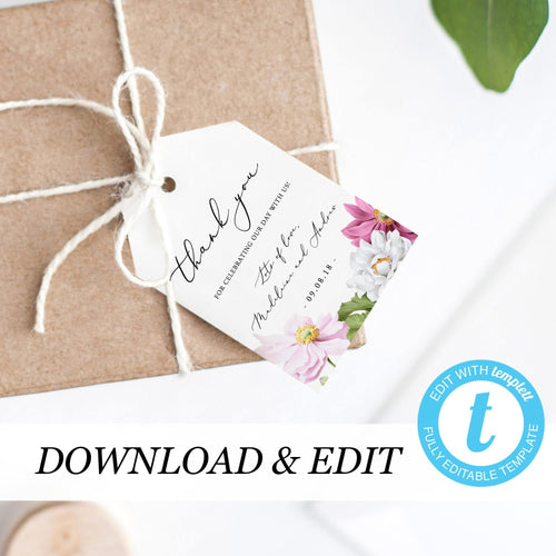 Floral Thank You Tags - Pearly Paper