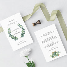 Load image into Gallery viewer, Eucalyptus Wedding ceremony Booklet - Pearly Paper
