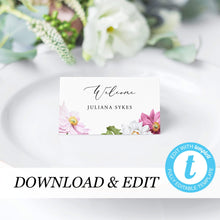Load image into Gallery viewer, Floral Place Cards - Pearly Paper