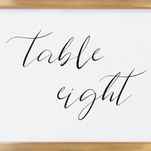 Load image into Gallery viewer, Calligraphy Table Numbers - Pearly Paper