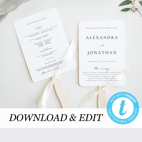 Wedding Ceremony program - Pearly Paper
