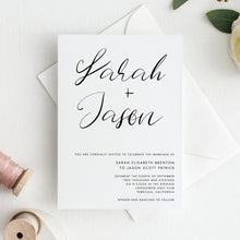 Load image into Gallery viewer, Minimalist Wedding Invitation Set Printable - Pearly Paper