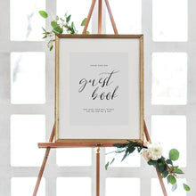 Load image into Gallery viewer, Minimal Wedding Guest book Sign - Pearly Paper