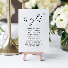 Load image into Gallery viewer, Wedding Seating Chart Cards Simple - Pearly Paper