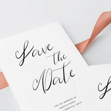 Load image into Gallery viewer, Minimalist Save the Date Invitation - Pearly Paper