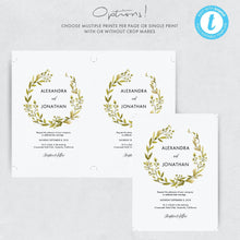 Load image into Gallery viewer, Greenery Details card Template Woodland, - Pearly Paper