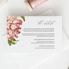 Load image into Gallery viewer, Floral Details card Template, Details - Pearly Paper