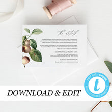 Load image into Gallery viewer, Greenery Details card Template - Pearly Paper
