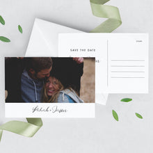 Load image into Gallery viewer, Photo Save the Date Postcard - Pearly Paper