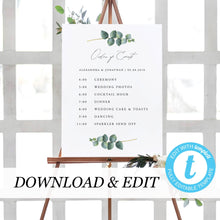 Load image into Gallery viewer, Editable Order of Events Template - Pearly Paper