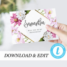 Load image into Gallery viewer, Be my Bridesmaid card - Pearly Paper