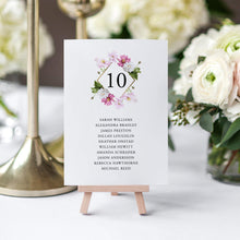 Load image into Gallery viewer, Table Number Seating Chart Cards Floral - Pearly Paper