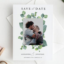 Load image into Gallery viewer, Greenery Save the Date Invite - Pearly Paper