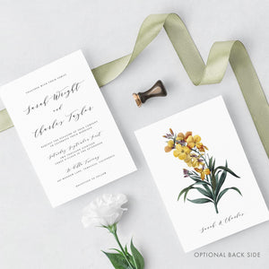 Calligraphy Invitation Printable Invitation Template - Pearly Paper