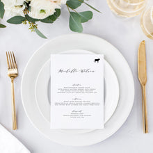 Load image into Gallery viewer, Wedding Menu Place Cards - Pearly Paper
