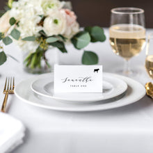 Load image into Gallery viewer, Place cards tent with meal icon - Pearly Paper