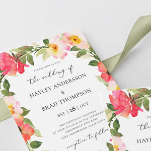 Wedding invitation template Blush Wedding - Pearly Paper