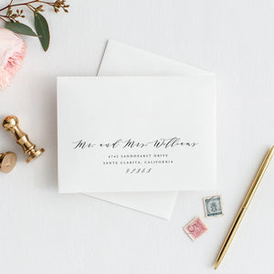 Calligraphy Envelope Address Template - Pearly Paper