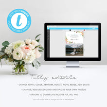 Load image into Gallery viewer, Floral wedding Thank you photo - Pearly Paper
