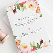 Load image into Gallery viewer, Blush Floral Wedding Thank You Card - Pearly Paper