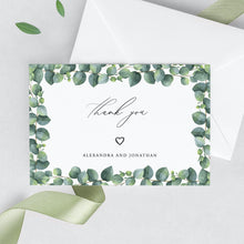 Load image into Gallery viewer, Eucalyptus Wedding Thank You Card - Pearly Paper